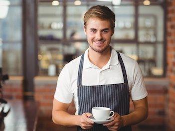picture of a cafe employee barista